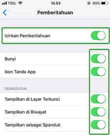 Mengatasi Notifikasi Iphone Tidak Bunyi