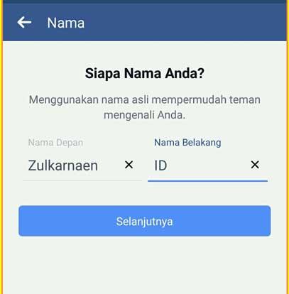 Cara Daftar Facebook Lewat Hp Android Lengkap