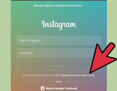 reset lupa password instagram