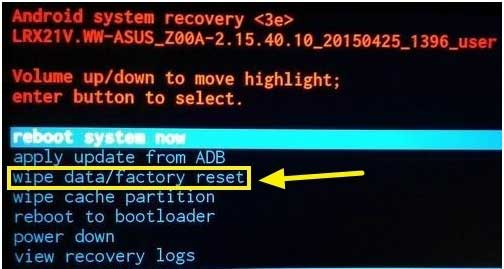 wipe cache partition asus zenfone max pro m1