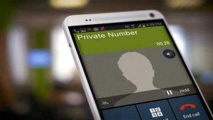 cara mengetahui private number di android