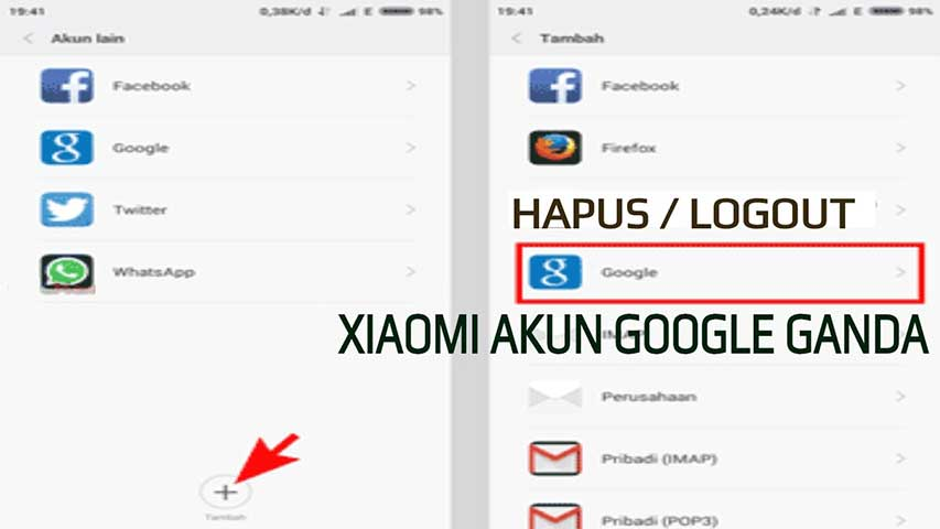 menghapus akun google di xiaomi redmi 4x
