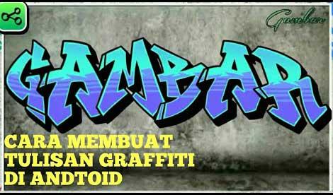 cara membuat graffiti nama sendiri di hp
