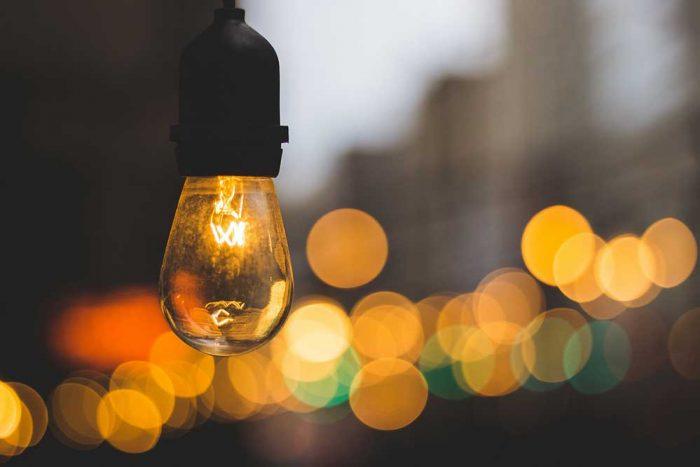 gambar bokeh lampu