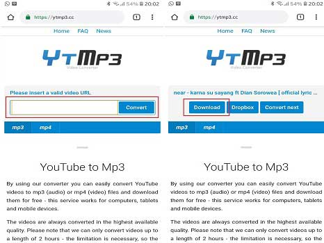 convert video ke mp3