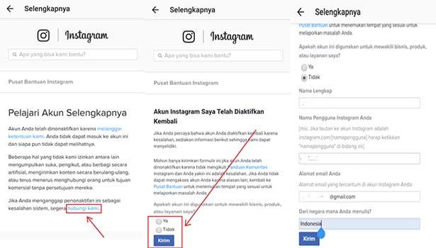 cara menghilangkan action blocked di instagram