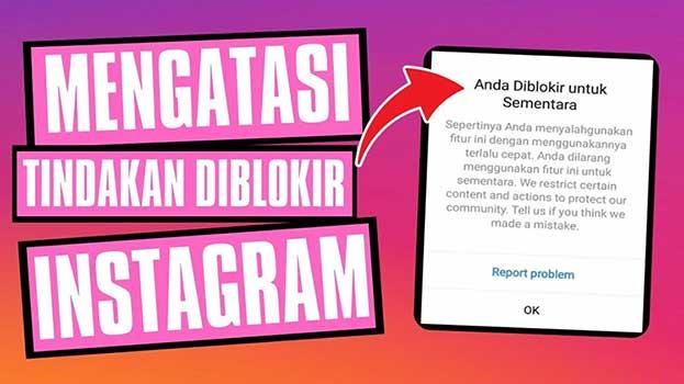 cara mengembalikan instagram yang diblokir sementara