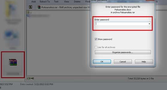 cara membuka file rar yang dipassword tanpa software