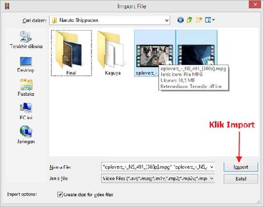 cara menggabungkan video dengan movie maker