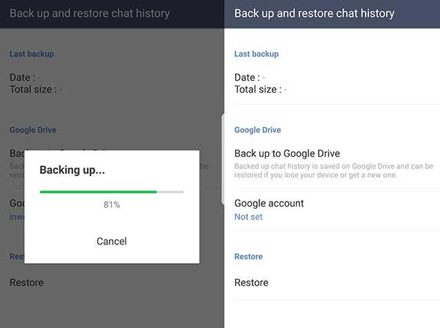 cara mengembalikan chat line yang belum dicadangkan