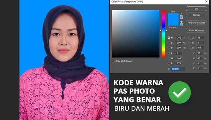 Kode Warna Merah Pas Foto