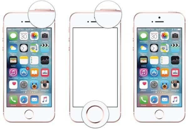 cara screenshot iphone 5