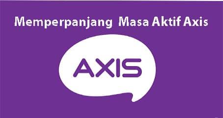 cara perpanjang masa aktif axis