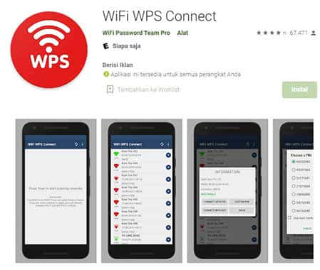 cara melihat password wifi di hp dengan wifi wps connect