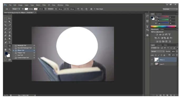 cara membuat foto bulat di photoshop
