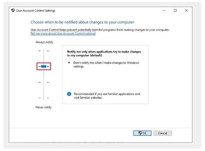 mematikan uac di windows dengan user account control