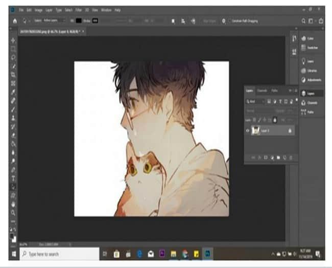 cara membuat garis tepi di photoshop 1