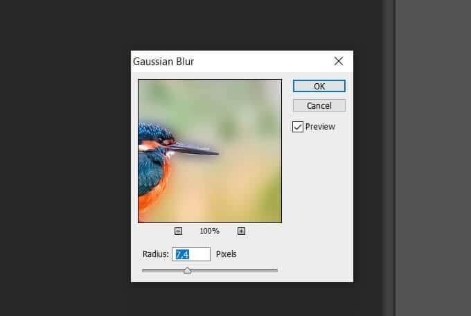cara membuat blur di photoshop
