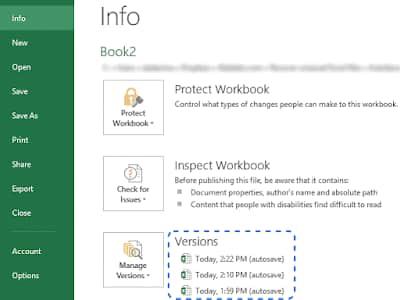 cara mengembalikan file excel yang sudah di save