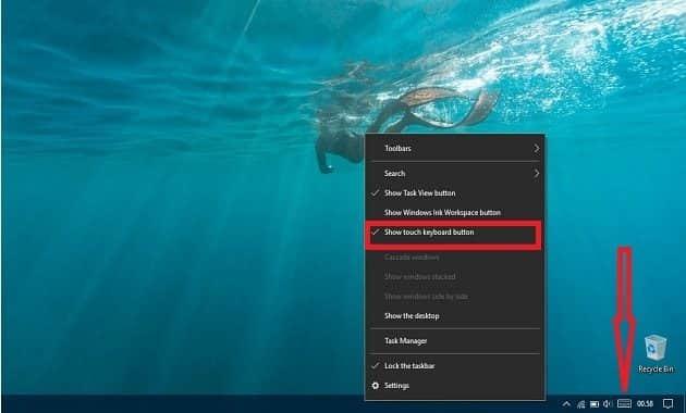 langkah menampilkan keyboard on screen