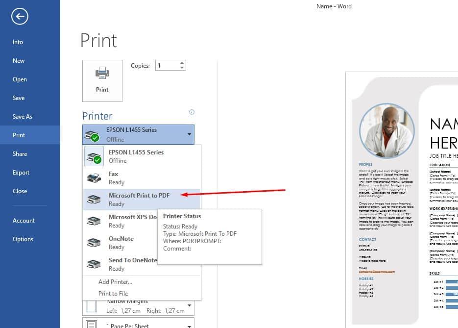 cara mengubah file word ke pdf di laptop