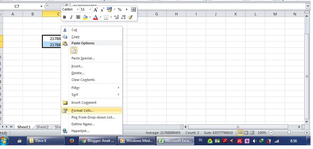 Cara Menambahkan Angka Nol di Excel dengan format cell