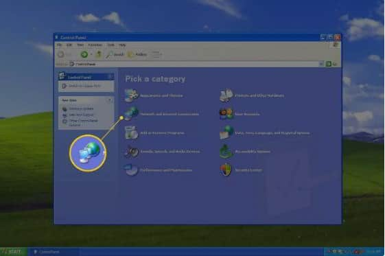 Network and internet connections windows xp