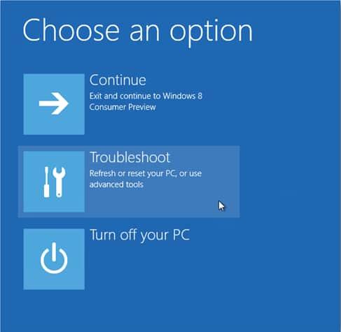 cara masuk safe mode windows 8 lewat trobleshoot